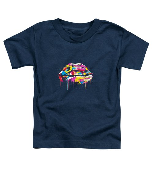 Colorful Lips Toddler T-Shirt