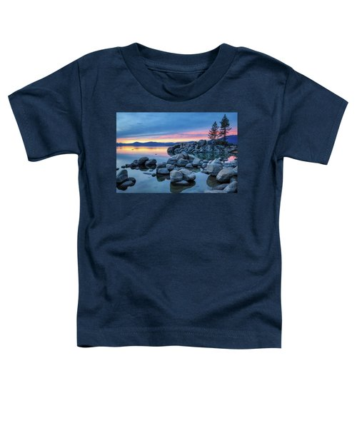 Colorful Sunset At Sand Harbor Toddler T-Shirt