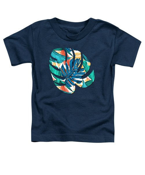 Colorful Tropical Jungle Leaves Toddler T-Shirt