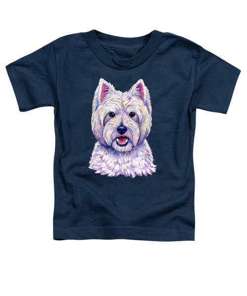 Colorful West Highland White Terrier Dog Toddler T-Shirt