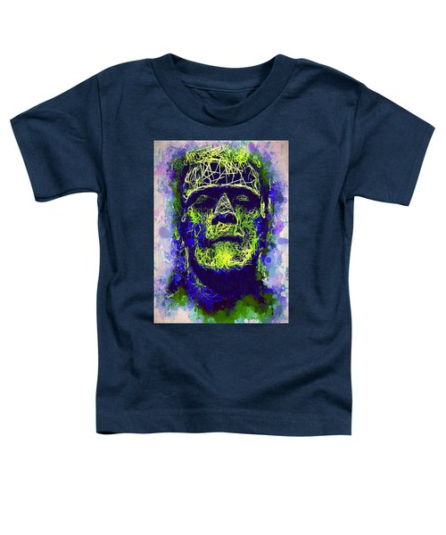 Frankenstein Watercolor Toddler T-Shirt