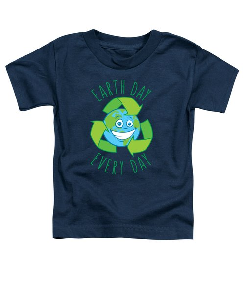 Earth Day Every Day Recycle Cartoon Toddler T-Shirt