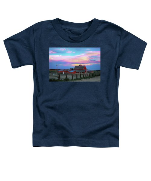 Toddler T-Shirt featuring the photograph Ghost Horses Pastel Sky Timed Stack by James BO Insogna