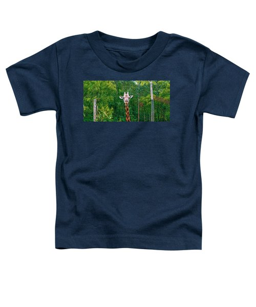 Giraffe Looking For Food During The Daytime. Toddler T-Shirt