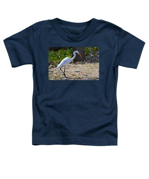 Great White Egret Hunter Toddler T-Shirt