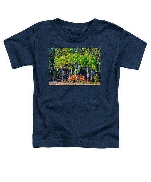 Green Aspens Red Bushes Toddler T-Shirt