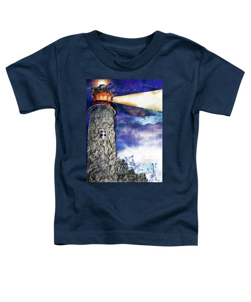 Light Of The World Torn Paper Collage Toddler T-Shirt