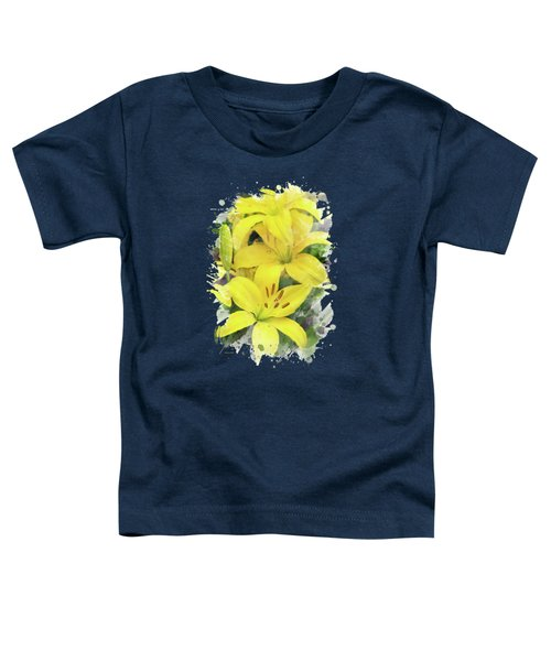 Lily Watercolor Art Toddler T-Shirt