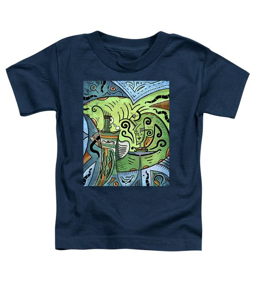 Toddler T-Shirt featuring the painting Mystical Powers by Sotuland Art