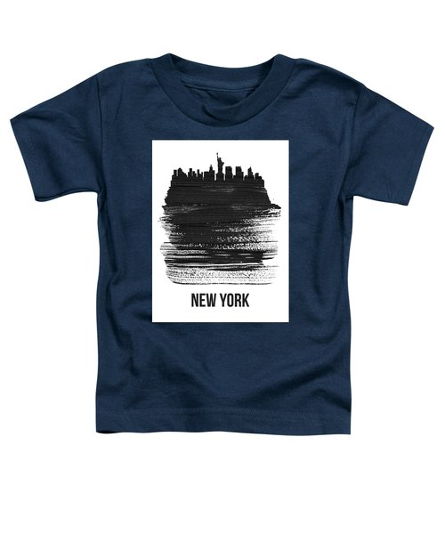New York Skyline Brush Stroke Black Toddler T-Shirt