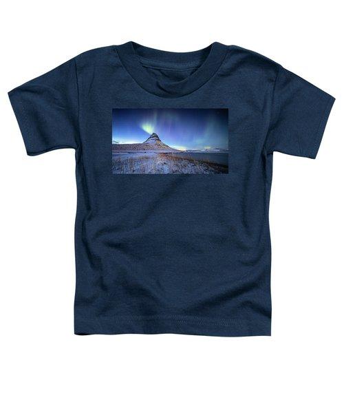 Northern Lights Atop Kirkjufell Iceland Toddler T-Shirt