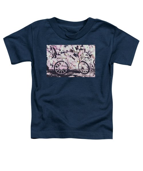 Pink Posterized Pushbike Toddler T-Shirt