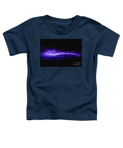 Rays In A Night Storm With Light And Clouds. Toddler T-Shirt