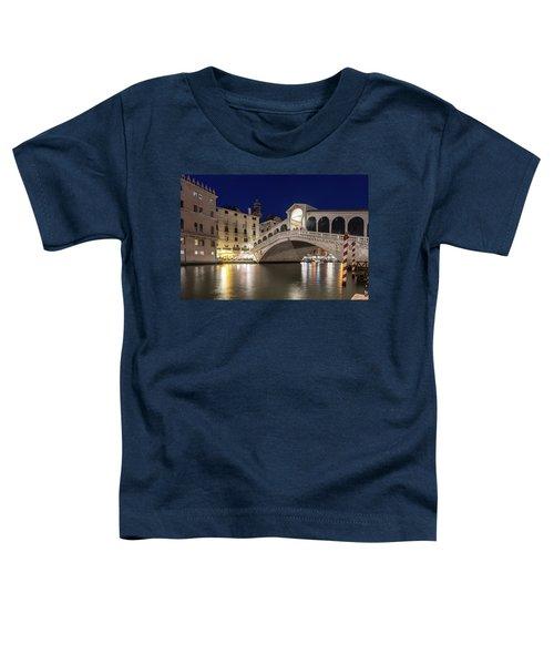 Rialto Bridge Midnight - Venice Italy Night Magic Toddler T-Shirt