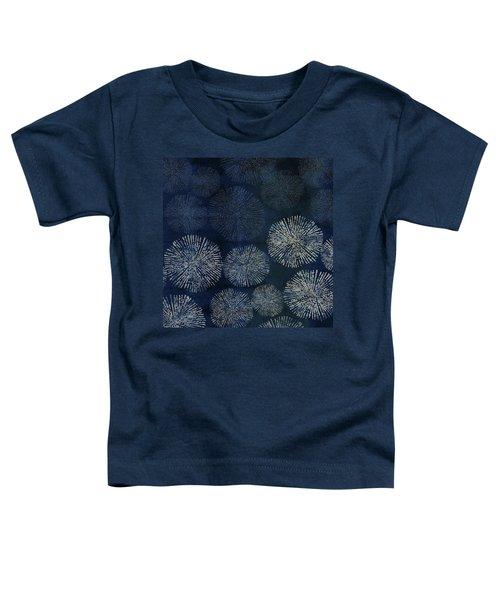 Shibori Sea Urchin Burst Pattern Dark Denim Toddler T-Shirt
