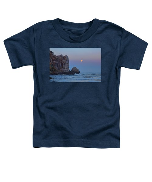 Snow Moon And Morro Rock Toddler T-Shirt