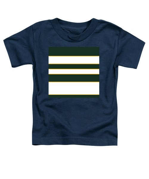 Stacked - Green, White And Yellow Toddler T-Shirt