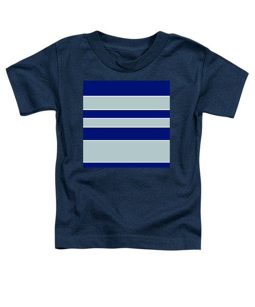 Stacked - Navy, Grey, And White Toddler T-Shirt