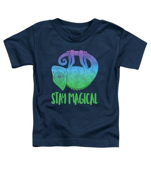 Stay Magical Levitating Chameleon Toddler T-Shirt