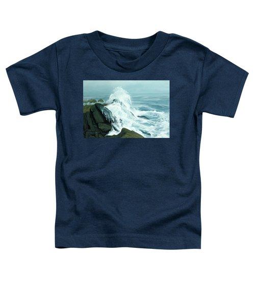 Surging Waves Break On Rocks Toddler T-Shirt