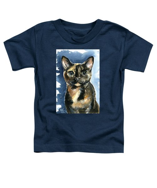 Tiffany Tortoiseshell Cat Painting Toddler T-Shirt