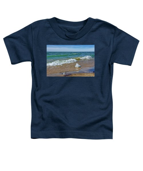 Waves Heading To A Beach Toddler T-Shirt