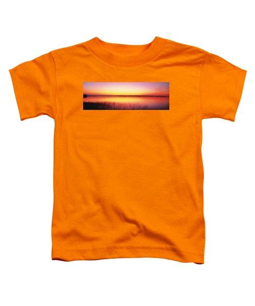 Sunrise Lake Michigan Door County Wi Toddler T-Shirt