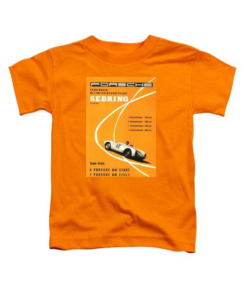 1968 Porsche Sebring Florida Poster Toddler T-Shirt