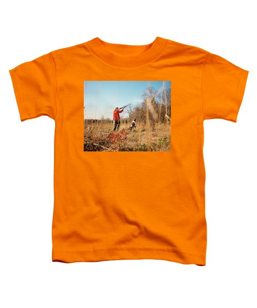 1970s Man Hunter With Dog Shooting Gun Toddler T-Shirt