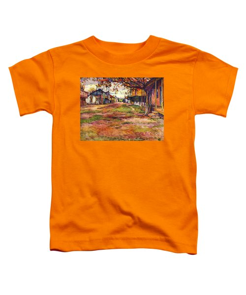 Main Street Of Early Spanish California Days San Juan Bautista Rowena M Abdy Early California Artist Toddler T-Shirt
