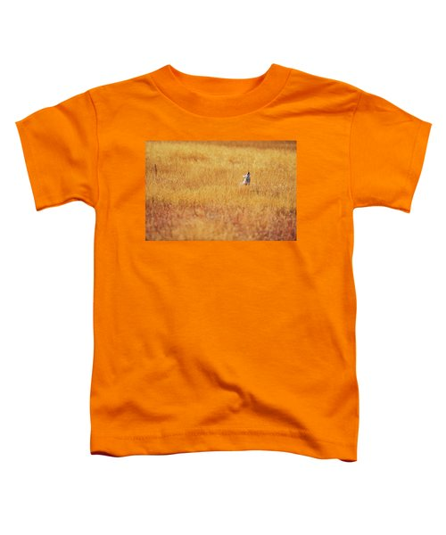 A Coyote Hunting Insects In A Golden Toddler T-Shirt