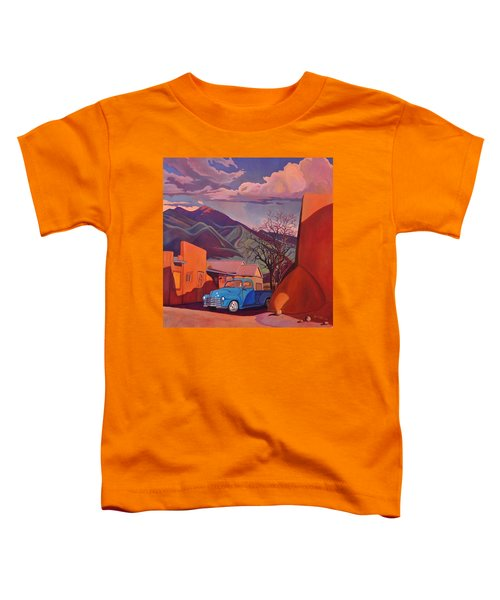 A Teal Truck In Taos Toddler T-Shirt