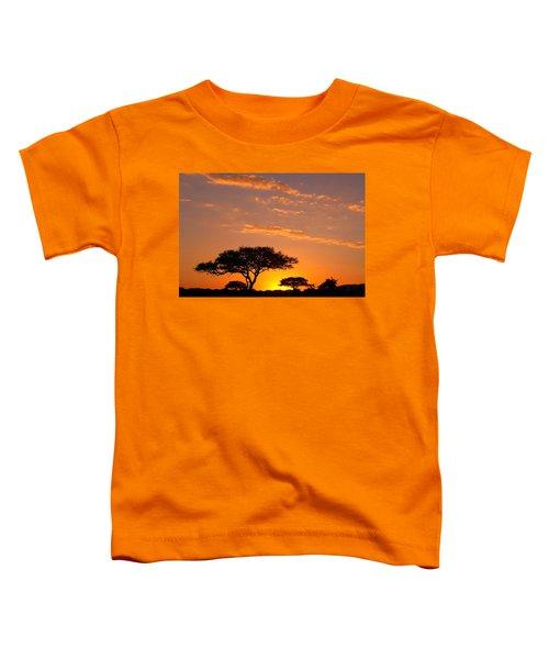 African Sunset Toddler T-Shirt by Sebastian Musial