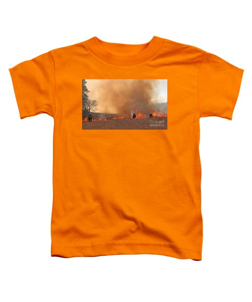 Alpine Hotshots Ignite The Norbeck Prescribed Fire. Toddler T-Shirt