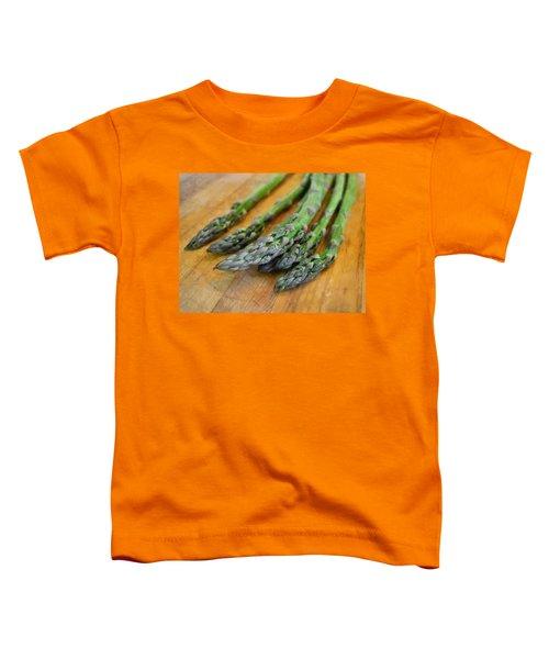 Asparagus Toddler T-Shirt by Michelle Calkins