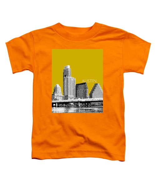 Austin Texas Skyline - Gold Toddler T-Shirt