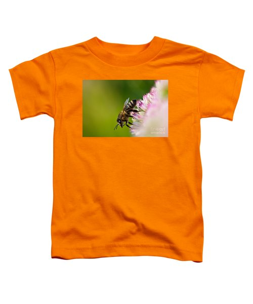 Bee Sitting On A Flower Toddler T-Shirt