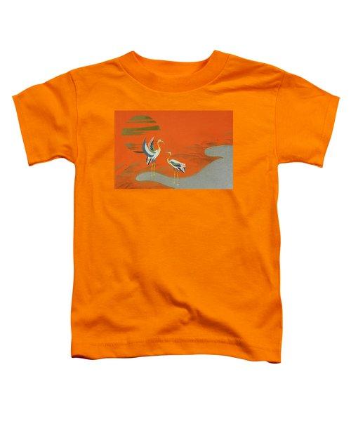 Birds At Sunset On The Lake Toddler T-Shirt