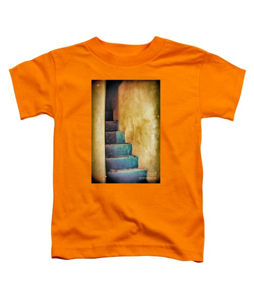 Blue Stairs - Yellow Wall    Toddler T-Shirt