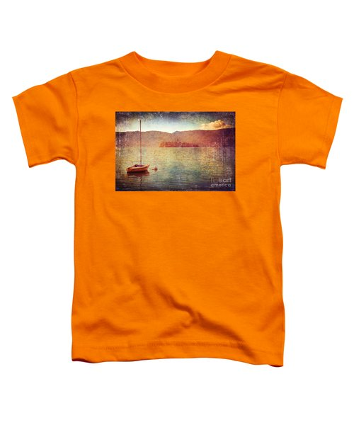 Boat On Lake Maggiore Toddler T-Shirt