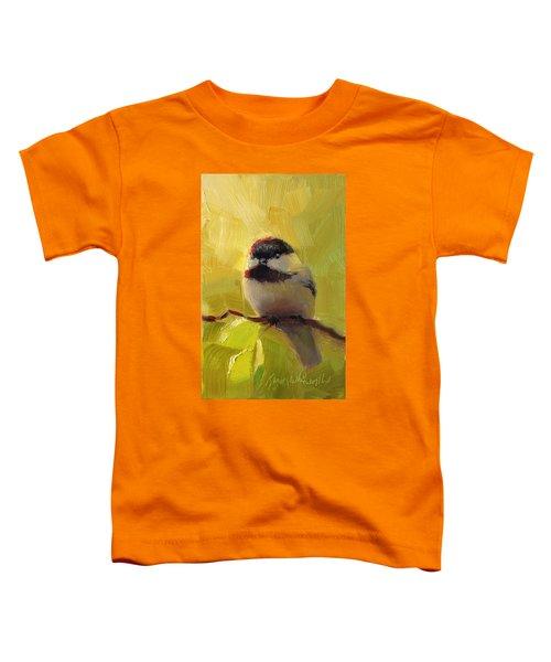 Chatty Chickadee - Cheeky Bird Toddler T-Shirt
