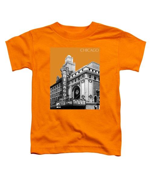 Chicago Theater - Dark Orange Toddler T-Shirt