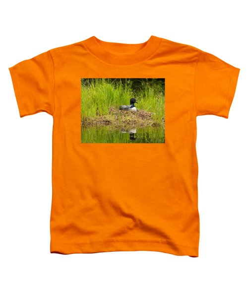 Common Loon Nesting Toddler T-Shirt