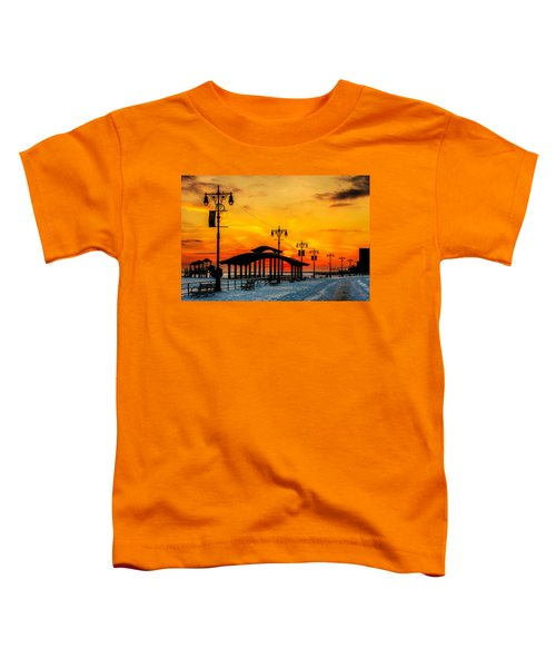 Coney Island Winter Sunset Toddler T-Shirt