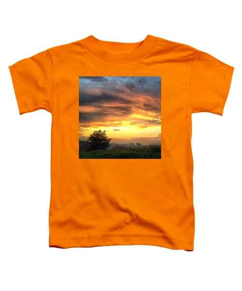 Country Scene From Hilltop To Hilltop Toddler T-Shirt