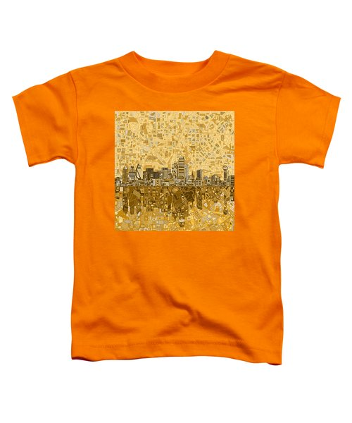 Dallas Skyline Abstract 6 Toddler T-Shirt