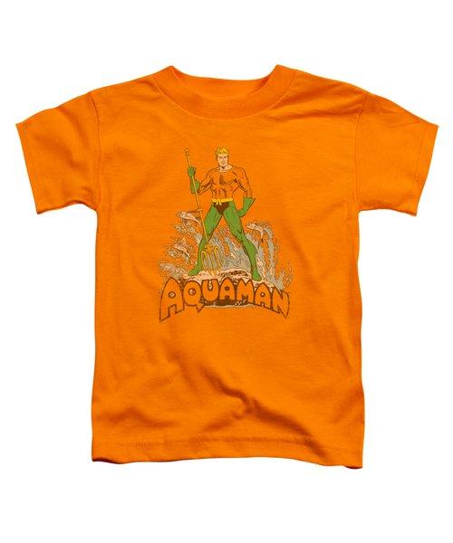Dc - Aquaman Distressed Toddler T-Shirt