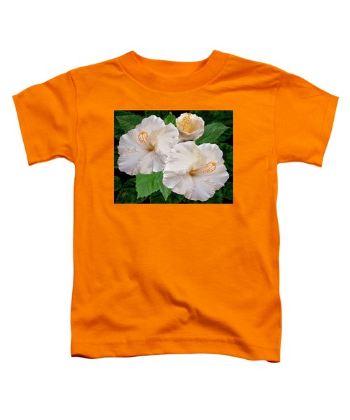 Dreamy Blooms - White Hibiscus Toddler T-Shirt