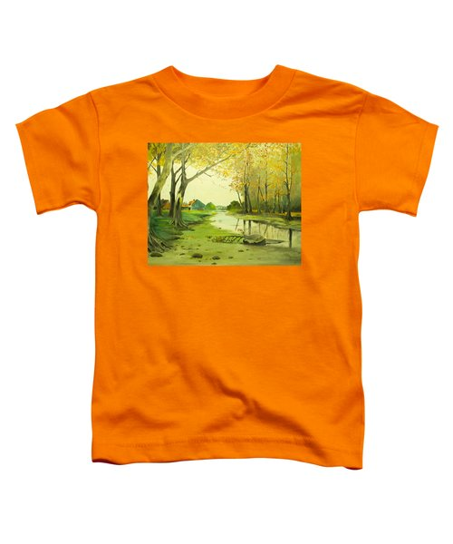 Fall By The Stream By Merlin Reynolds Toddler T-Shirt