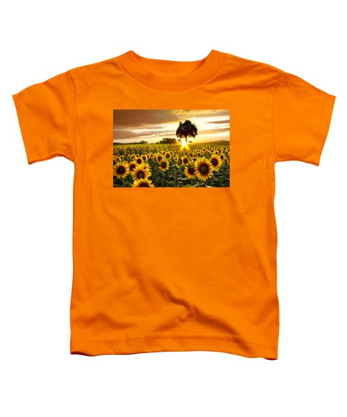 Toddler T-Shirt featuring the photograph Fields Of Gold by Debra and Dave Vanderlaan
